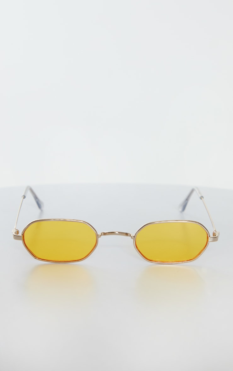 Jeepers Peepers Round Yellow Frame Sunglasses 2