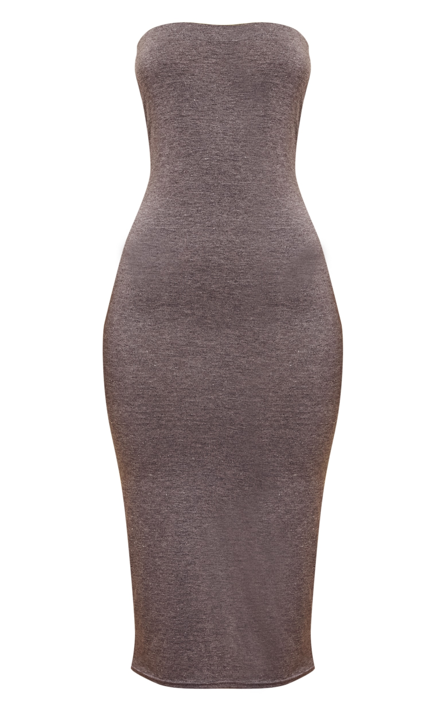 Basic Charcoal Grey Bandeau Midaxi Dress 3