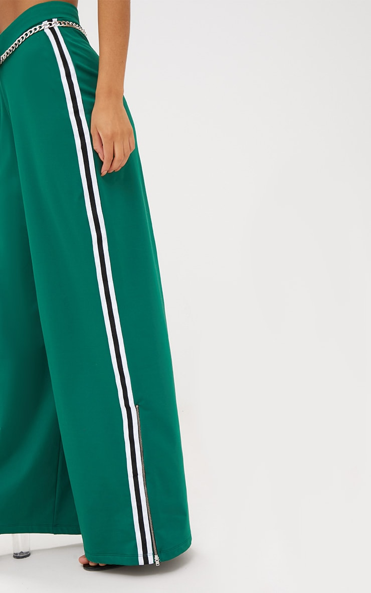 Green Wide Leg Sport Trouser Trousers Prettylittlething