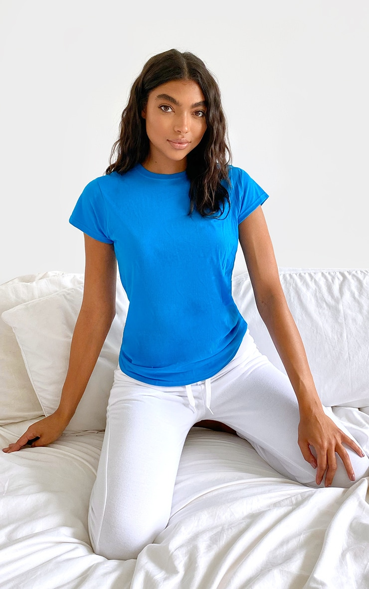 Blue Fitted T Shirt 3
