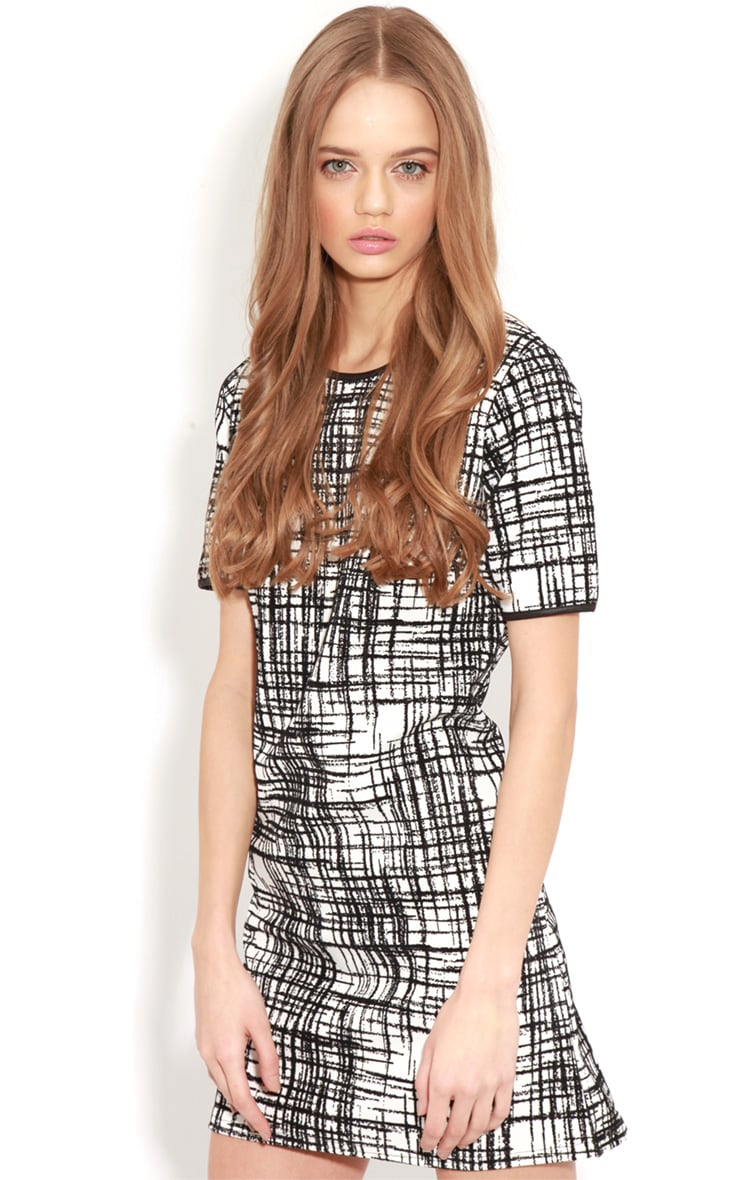 Keaton Black & White Check Shift Dress 1