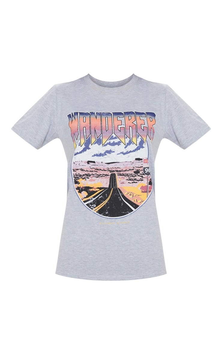 Grey Wanderer Oversized T Shirt 4