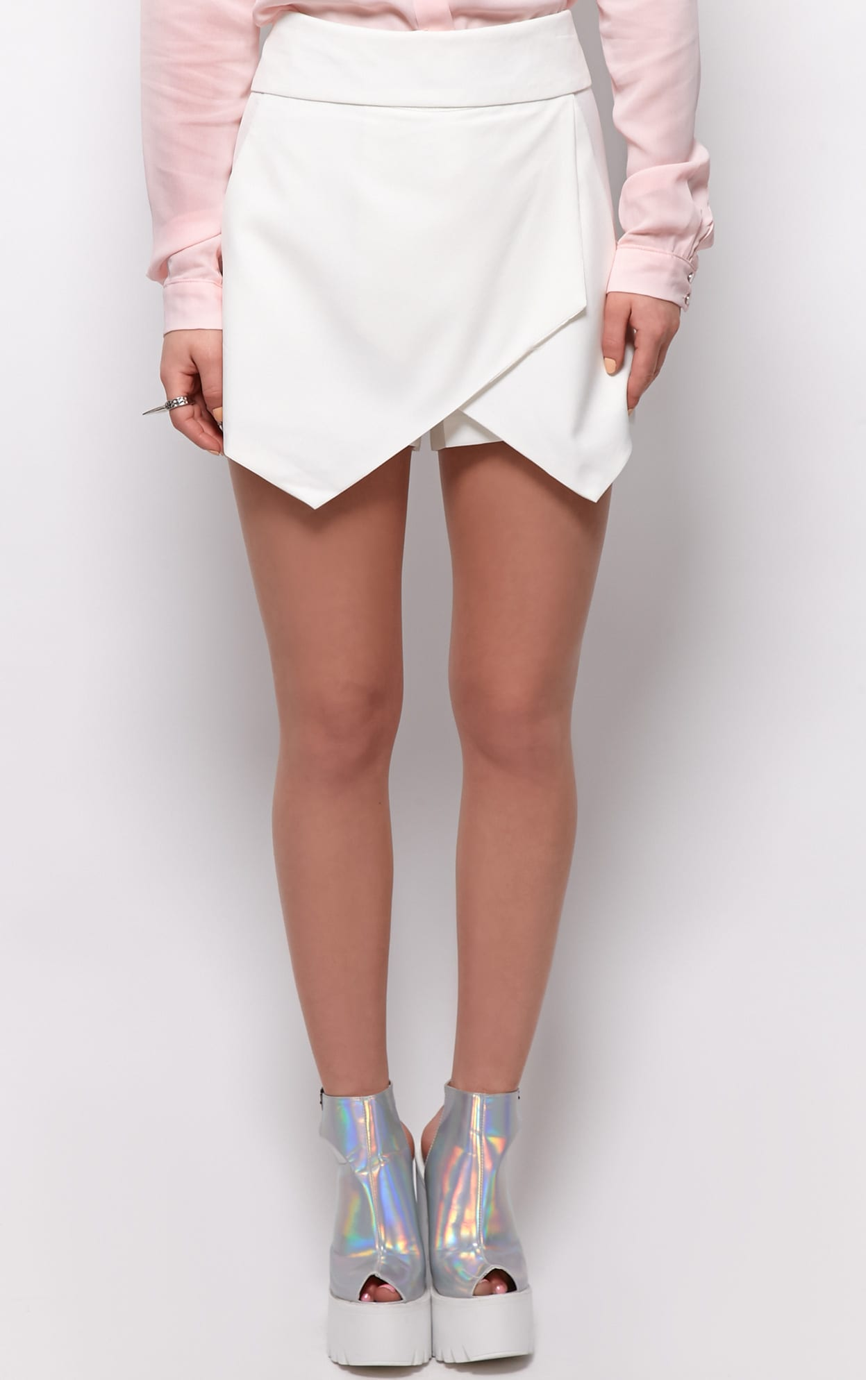 Gina White Tailored Skort  3