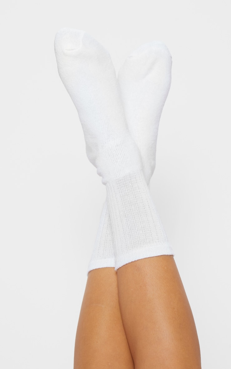 White Sport Socks 1
