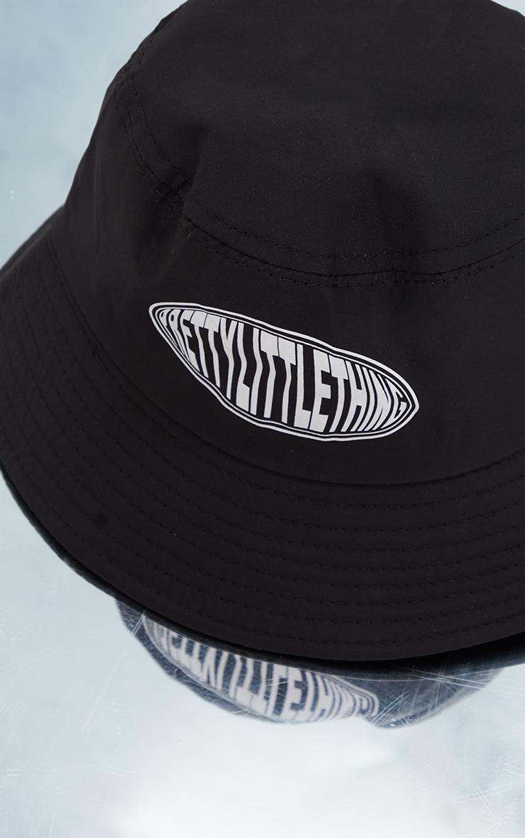 PRETTYLITTLETHING Black Nylon Bucket Hat 3
