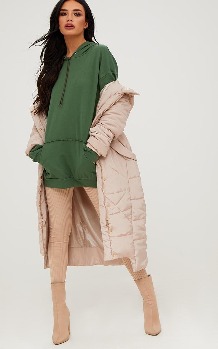 Khaki Oversized Hoodie 4