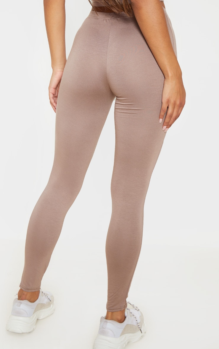 Basic Navy and Taupe Jersey Leggings 2 Pack 4