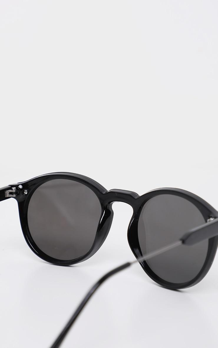 Silver Revo Classic Full Lense Round Sunglasses 4