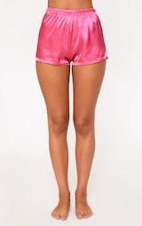 Hot Pink Satin Pyjama Shorts Set image 5 bbe60925a