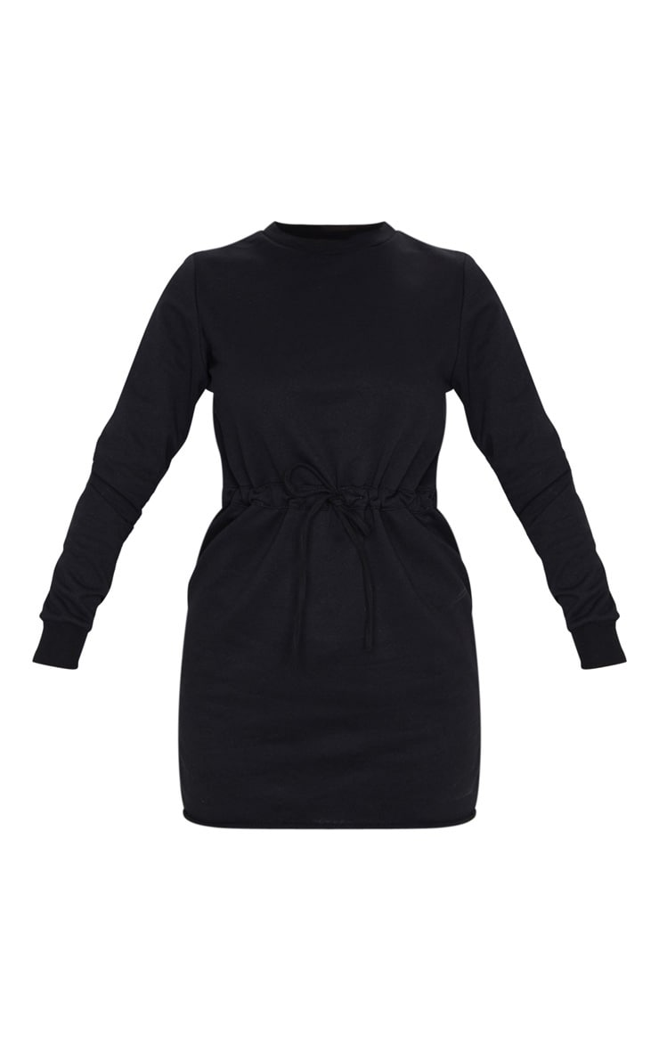 Suzanne Black Tie Waist Sweater Dress 5