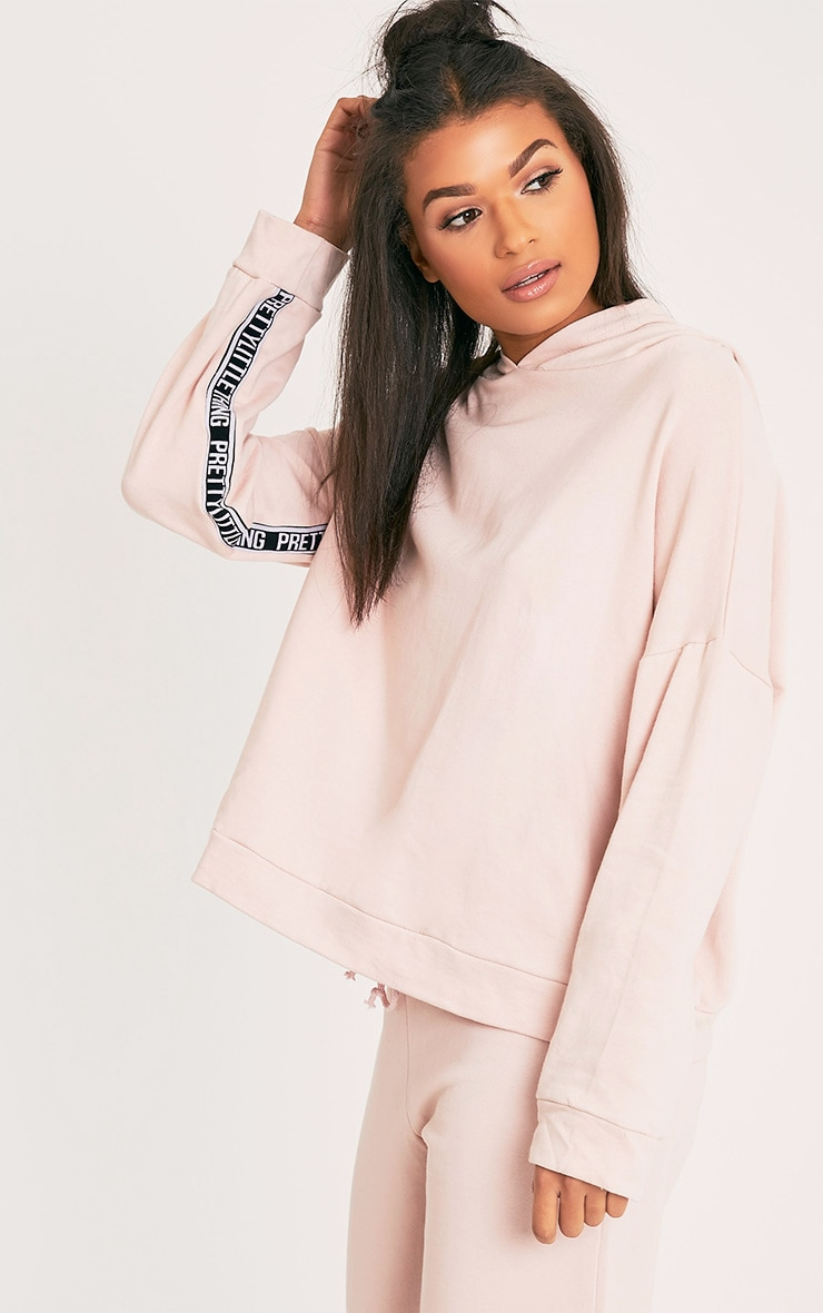 PRETTYLITTLETHING Pink Oversized Hoodie 5