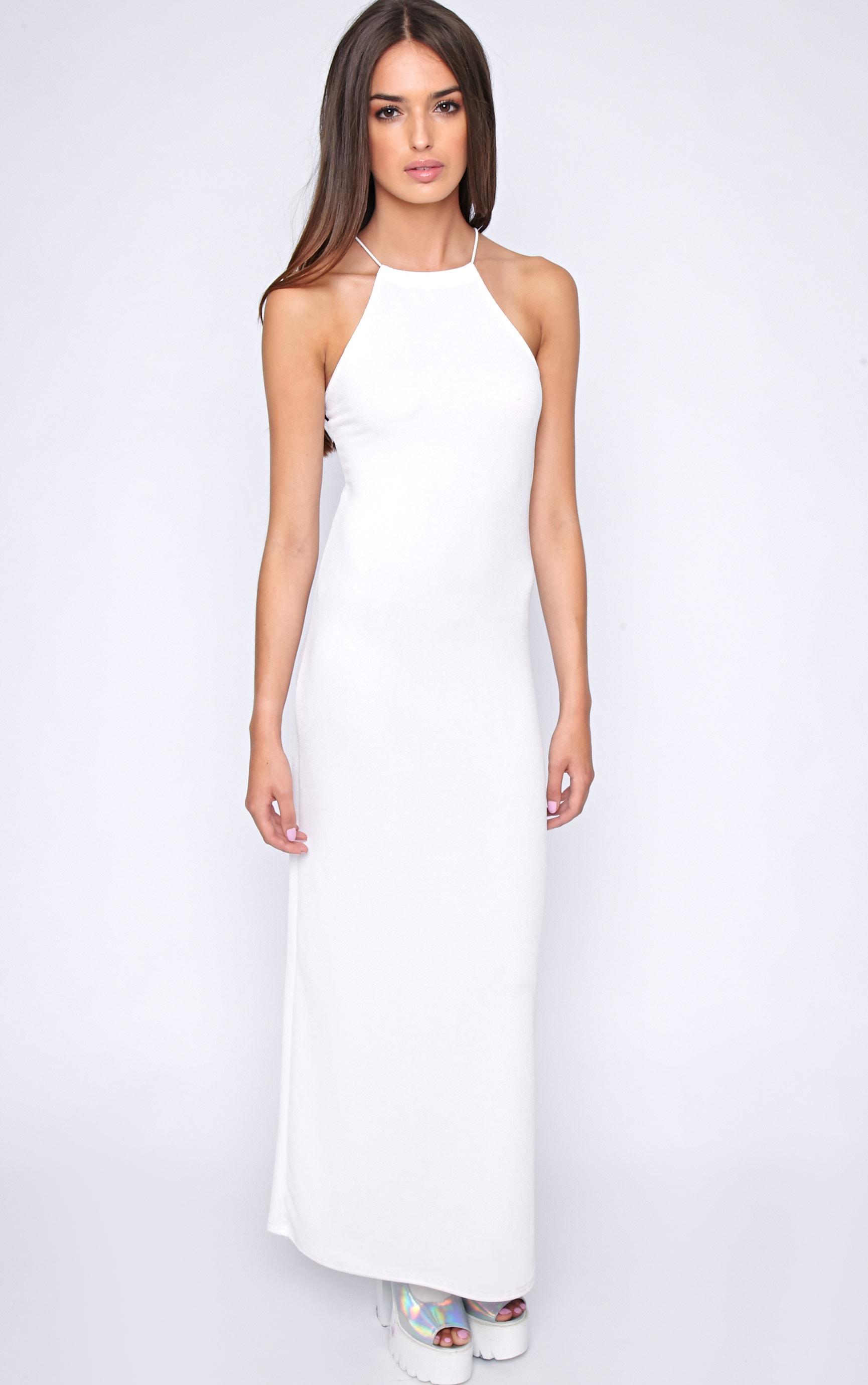 Becca White Cross Back Maxi Dress 3
