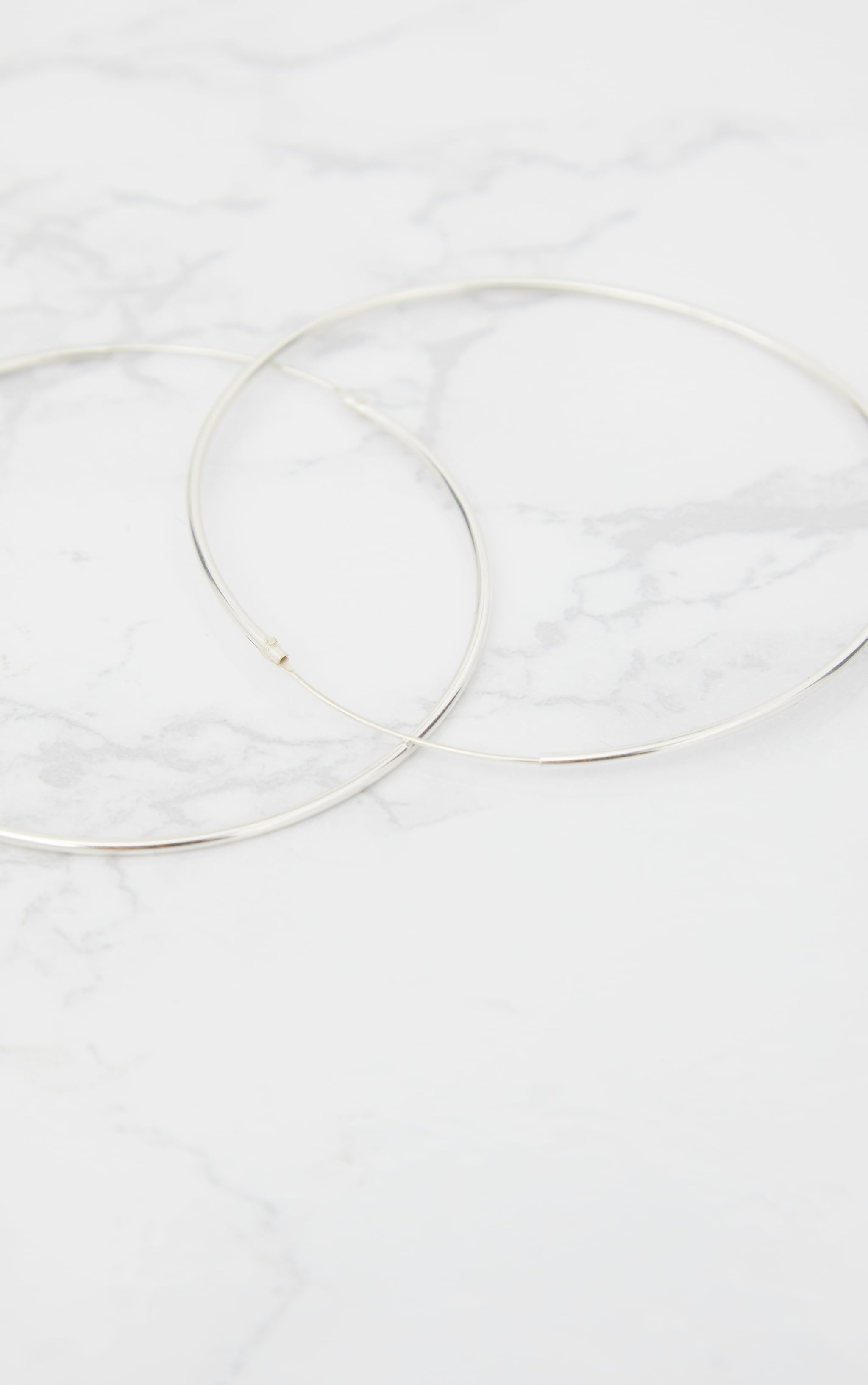 Sterling Silver 70mm Large Hoop Earrings 4