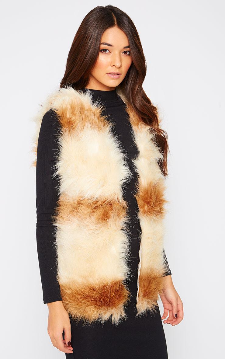 Reilly Two Tone Fur Waistcoat  1