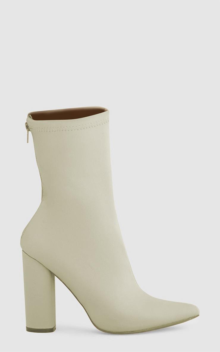 Addie bottes chaussettes pointues en néoprène gris clair 3