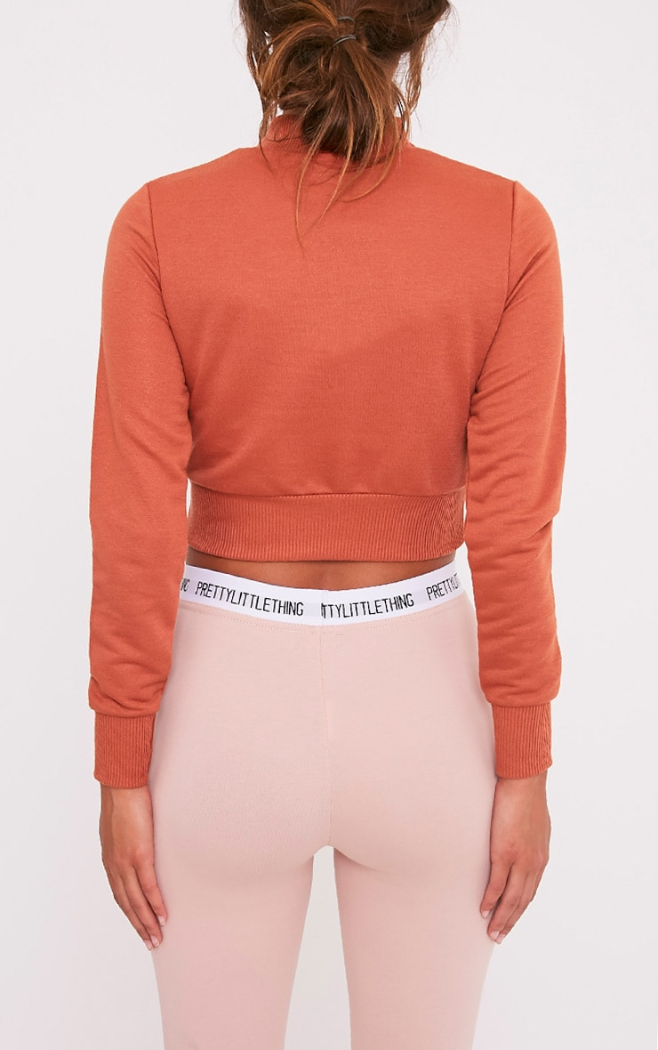 Emiliana Deep Peach Crop Sweatshirt 2