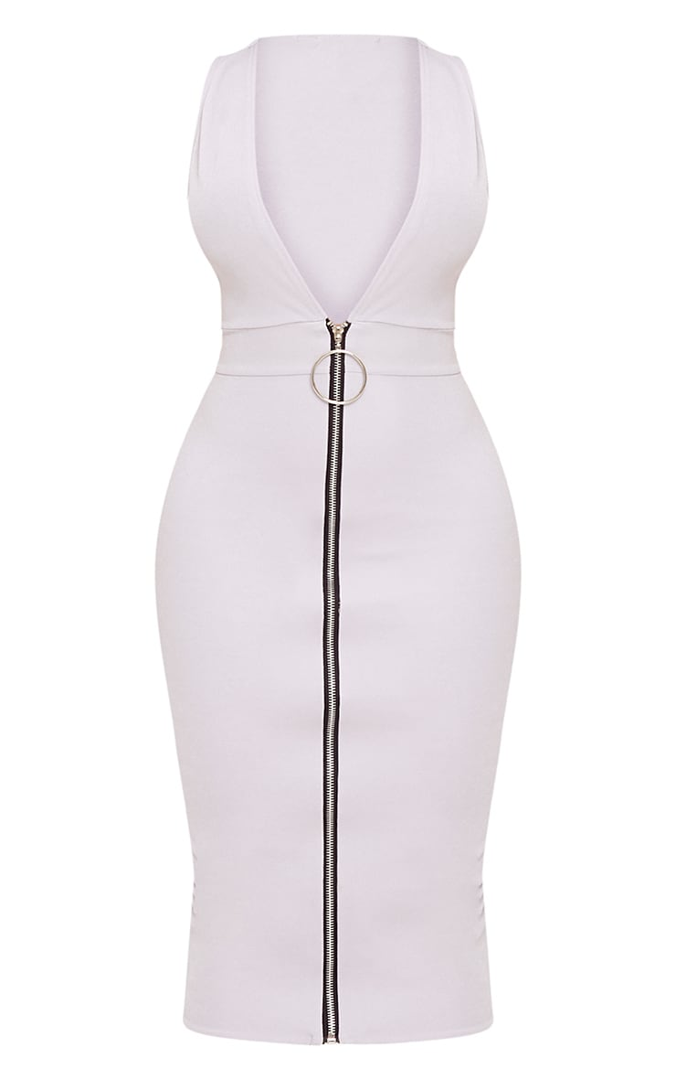 Shape O-Ring Zip Skirt Midi Dress 3