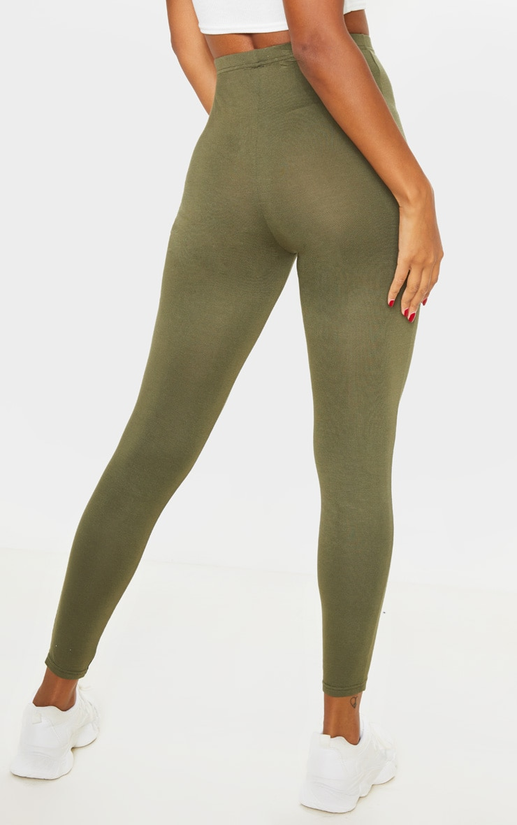 Dusty Rose And Sage Khaki 2 Pack Jersey Leggings 4