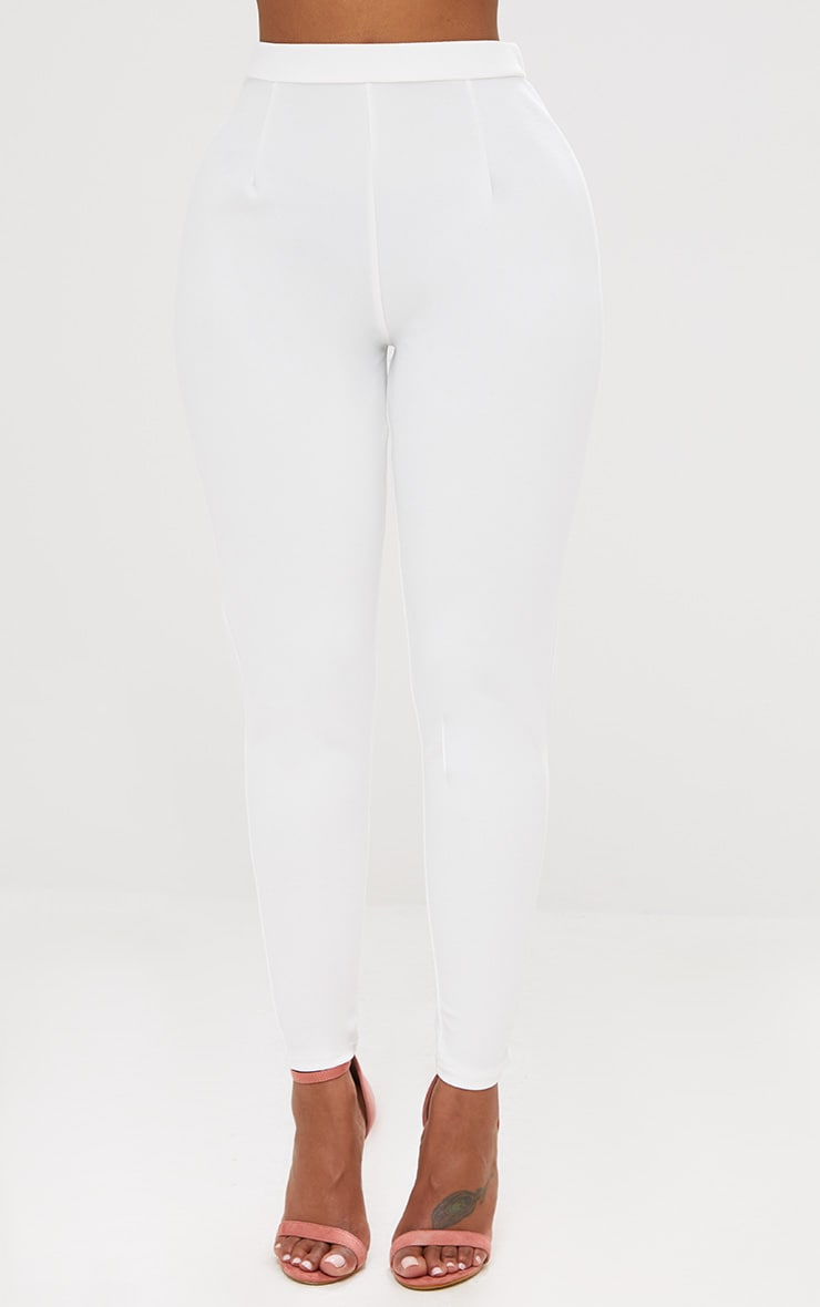 Shape White Fitted Trouser 2