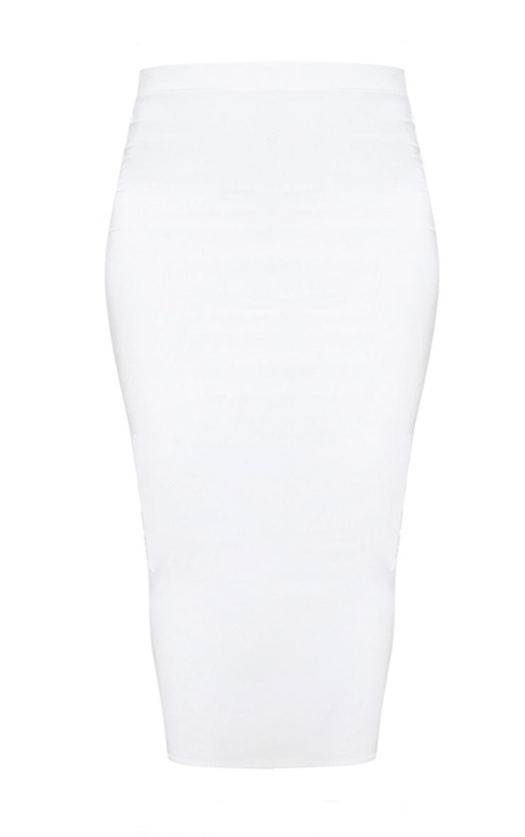 Plus White Midi Skirt 3