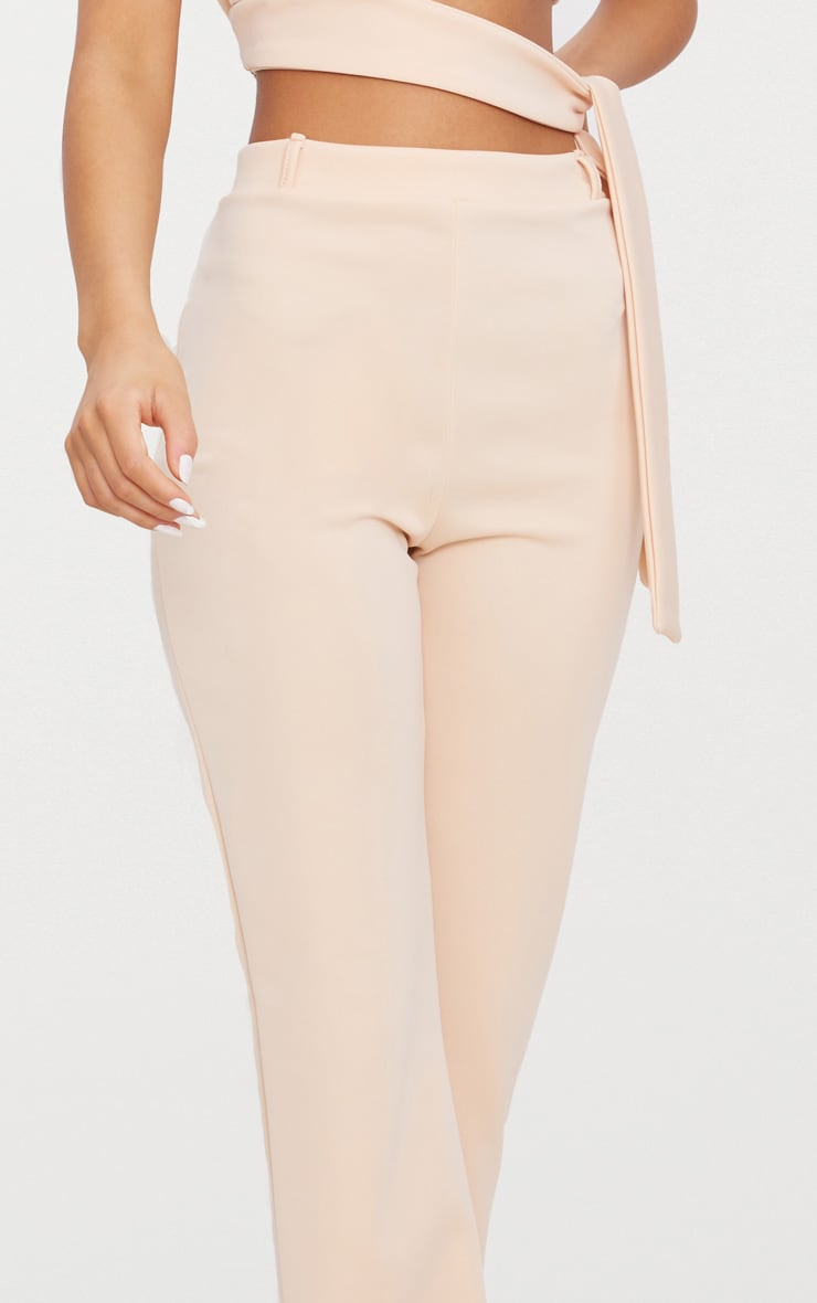 Blush High Waist Straight Trousers 4
