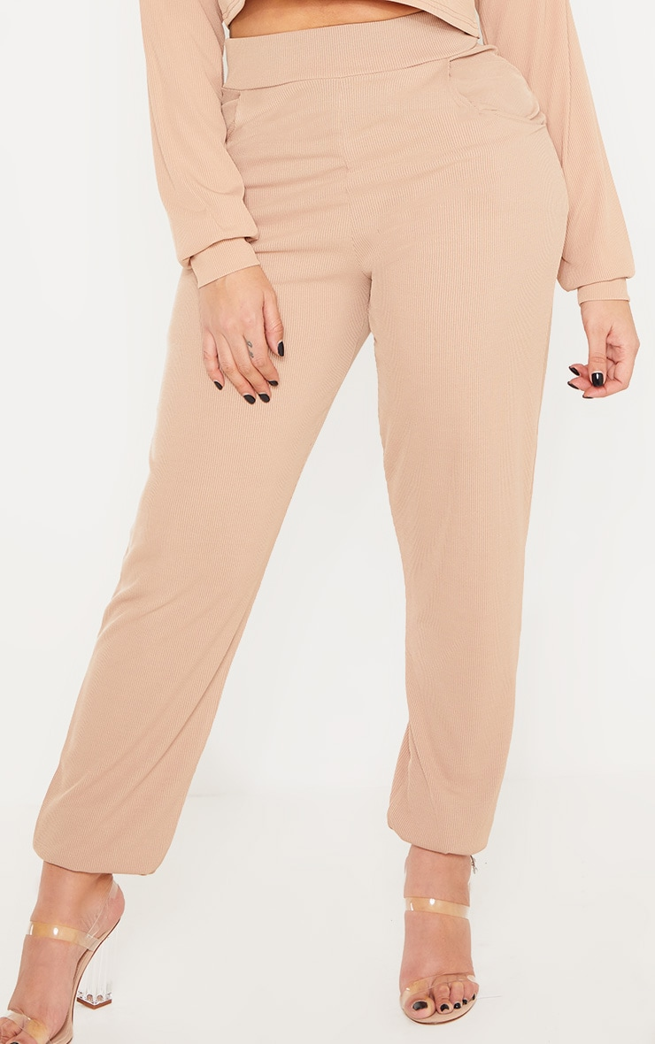 Shape Stone Ribbed Cuff Detail Joggers 4
