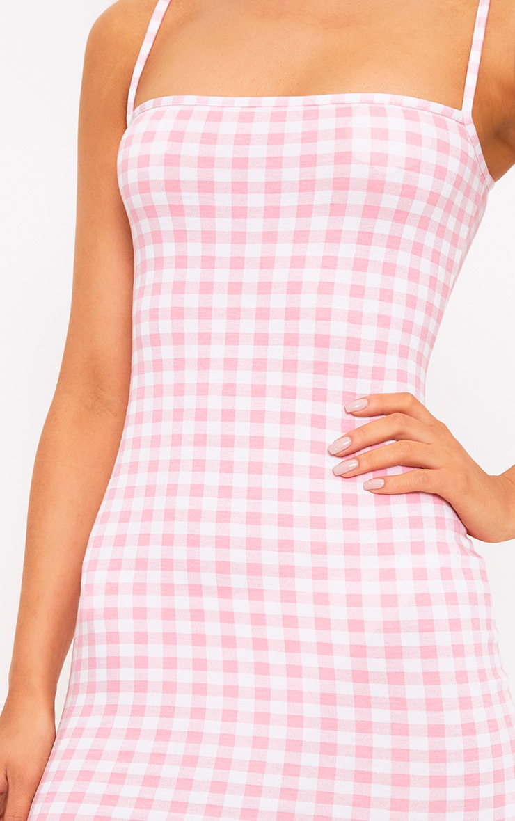 Minnie Pink Gingham Bodycon Dress 5