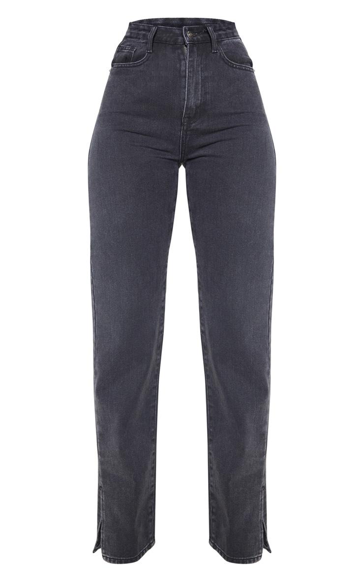 Black Split Hem Jeans 1