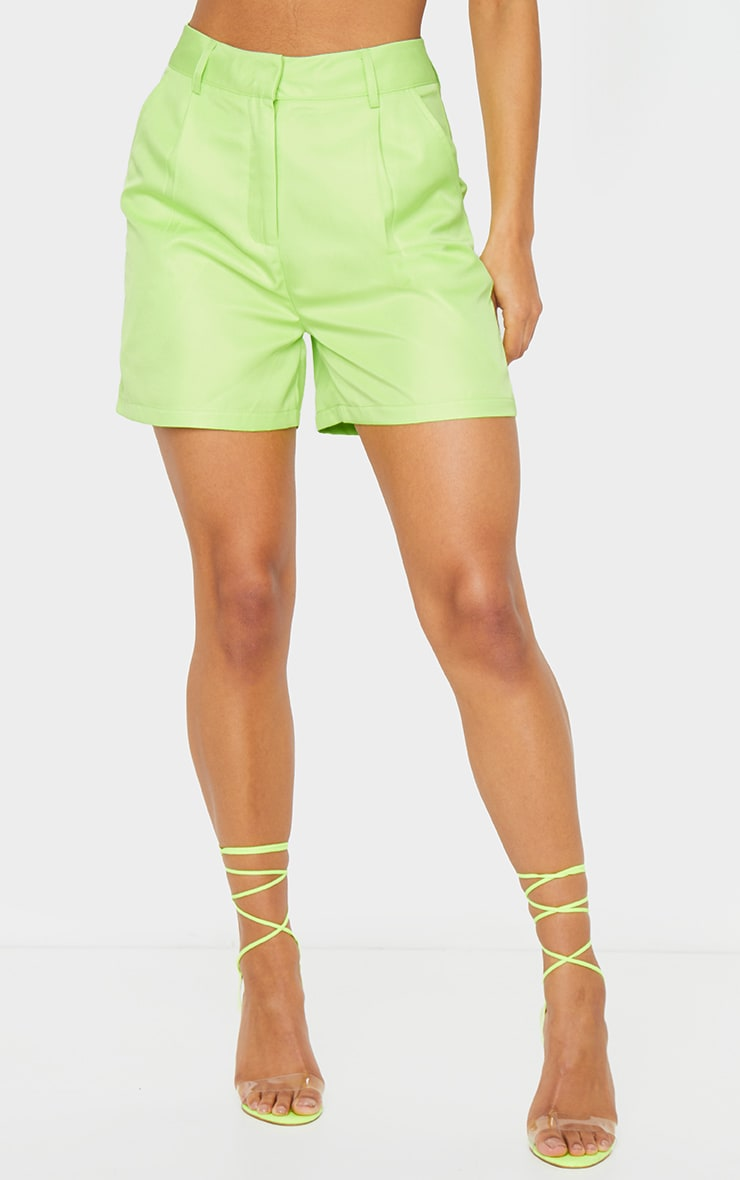Lime Green Woven Tailored Short 3