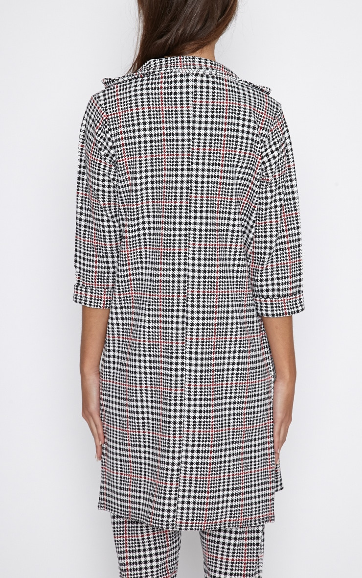 Devon Dogtooth Duster Jacket 2