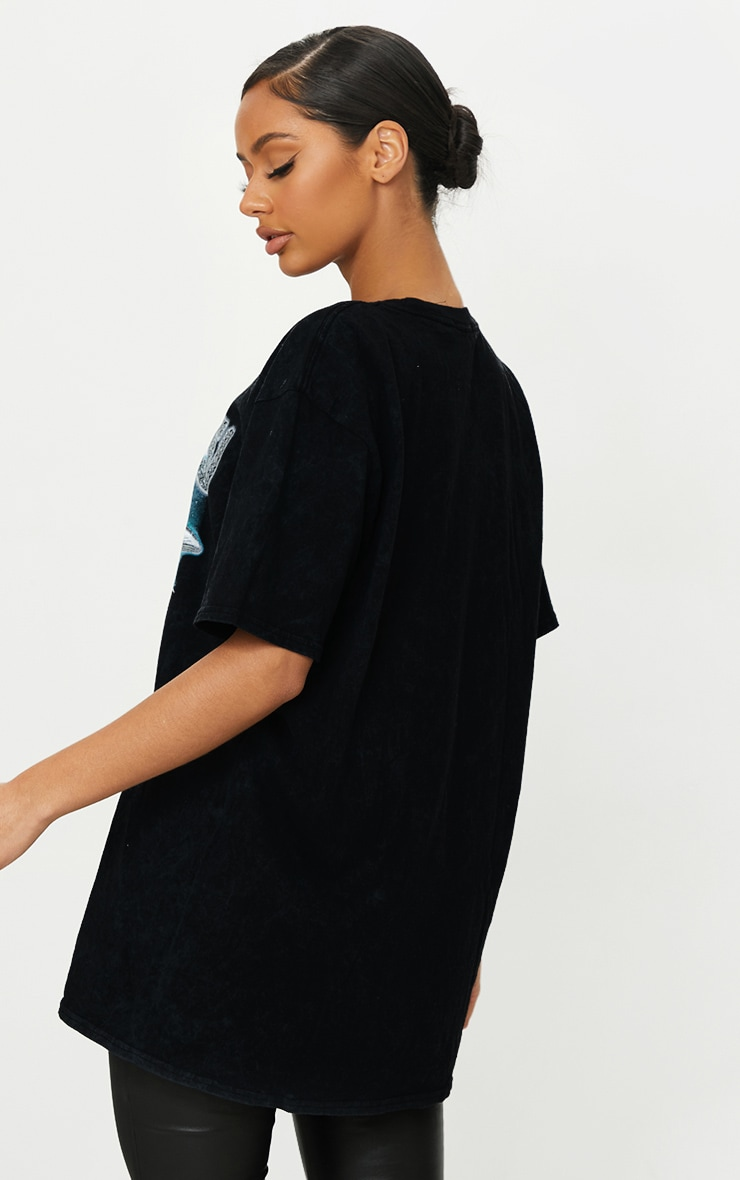 Black AREA 51 Oversized T Shirt 2