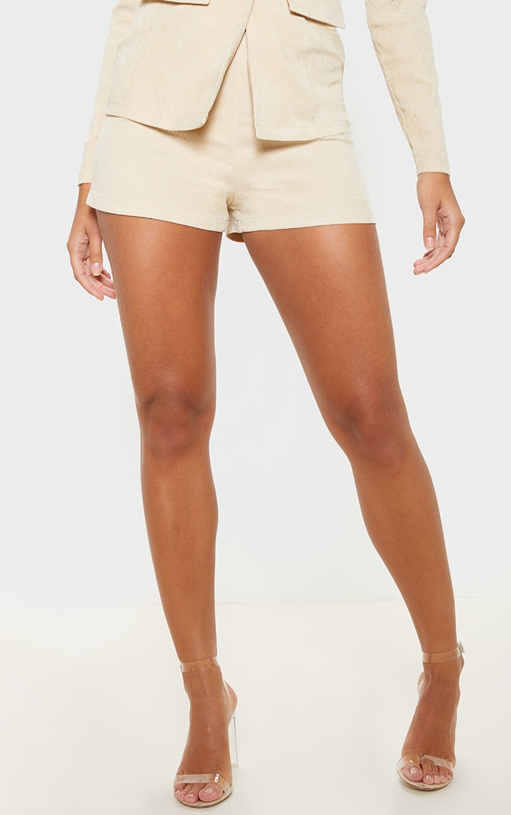 Stone Cord High Waisted Shorts 2