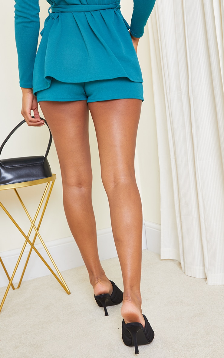 Teal Suit Shorts 3