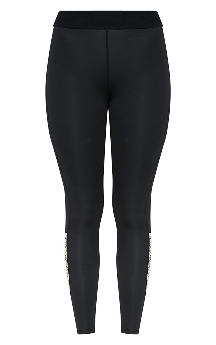 Sindie  Mutli Coloured Marl Panelled Gym Leggings 3