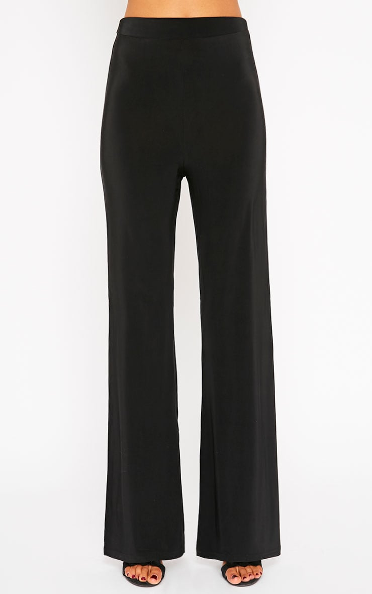 Remi Black Soft Touch Wide Leg Trousers 2