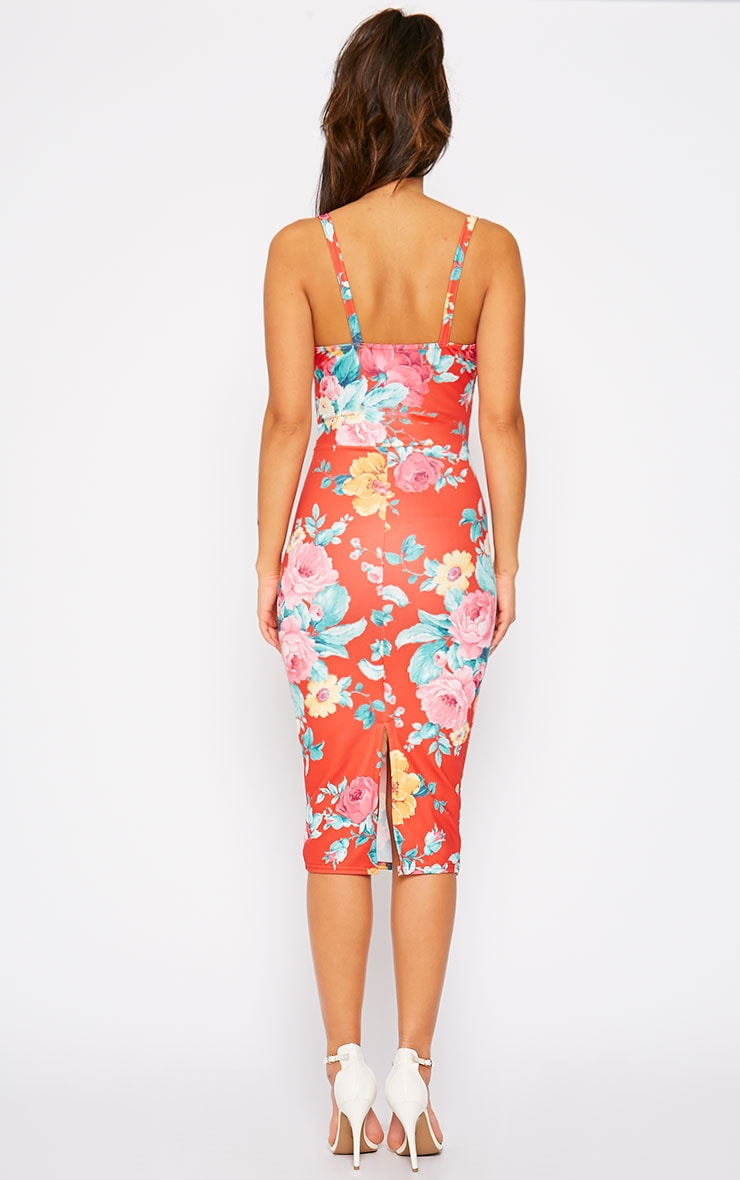 Corra Red Floral Dress 2