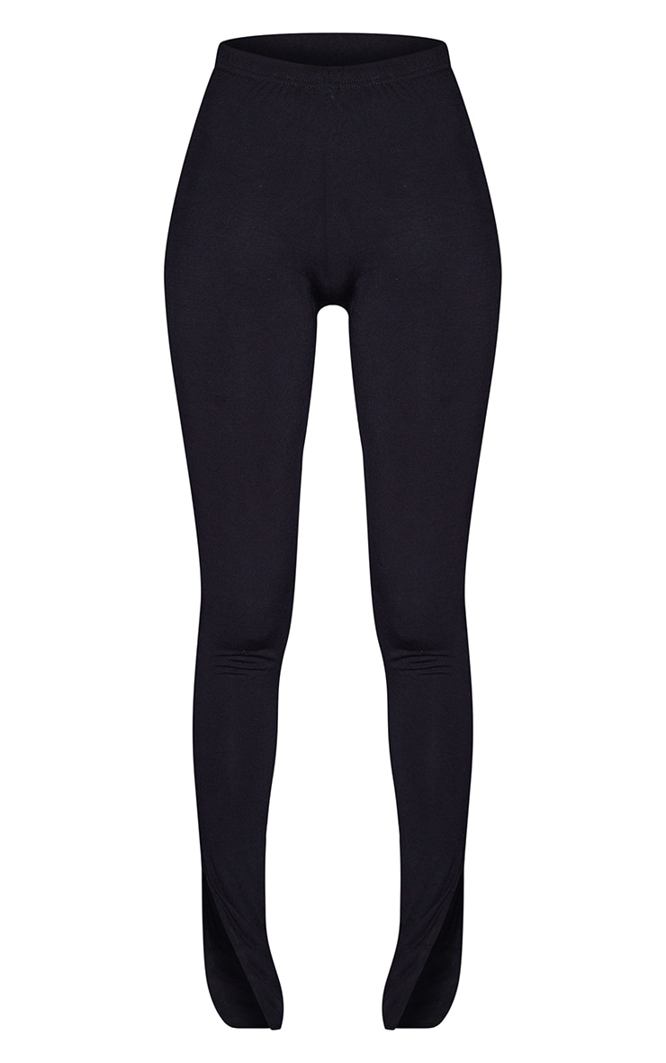 Tall - Legging basique noir en jersey à ourlet fendu 5