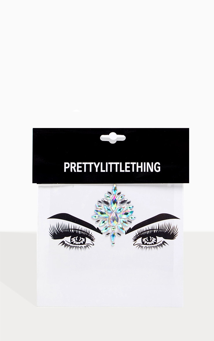 PRETTYLITTLETHING Arabian Fantasy Silver Face Jewel  2