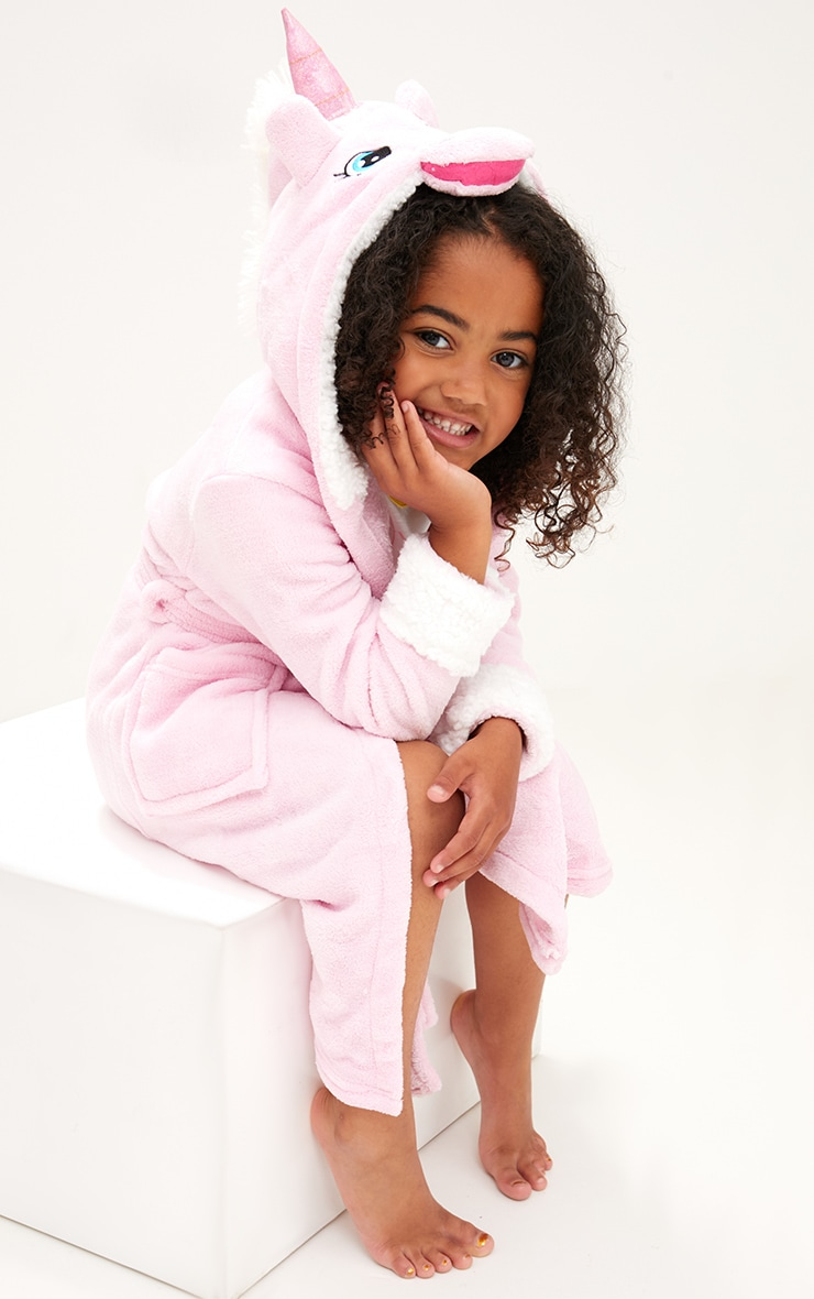 Unicorn Pink Dressing Gown 1