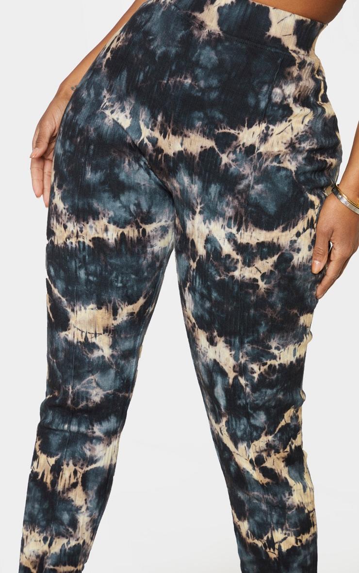 Shape Charcoal Tie Dye Thick Rib Leggings 3