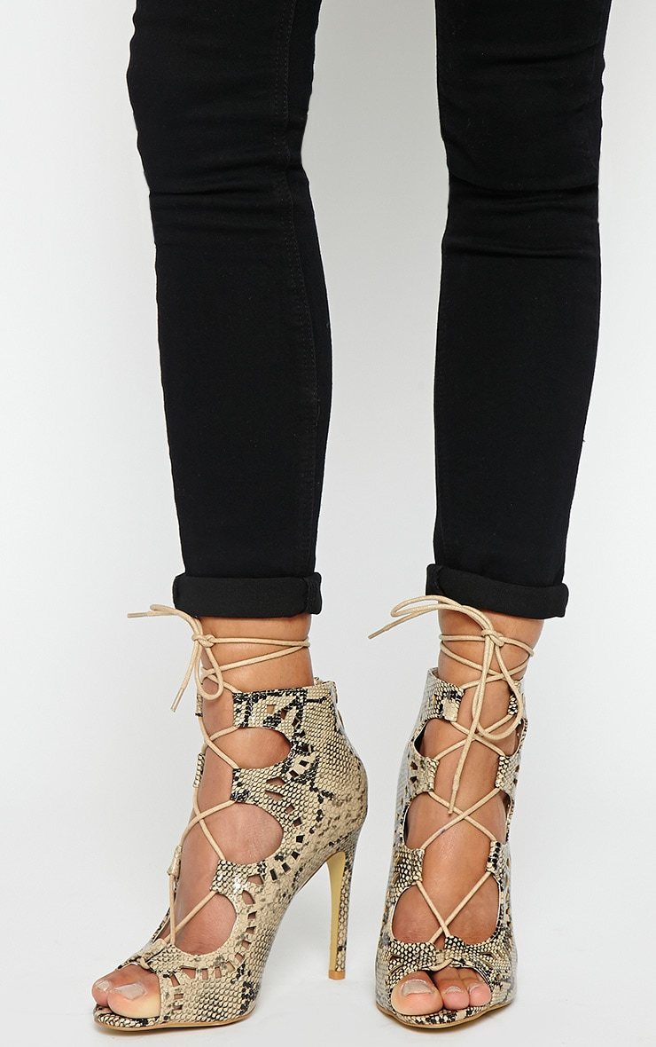 Xylia Snake Cut Out Detail Heels 1