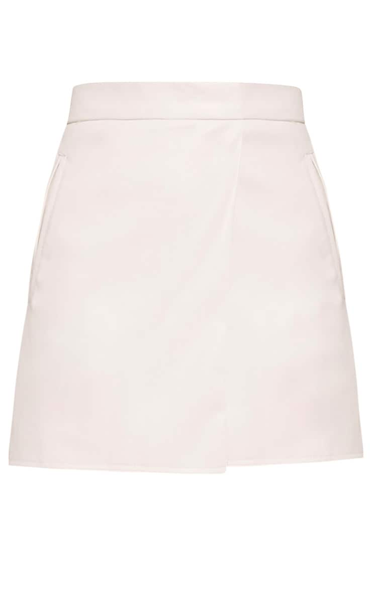 Chlo White Faux Leather Skort 3