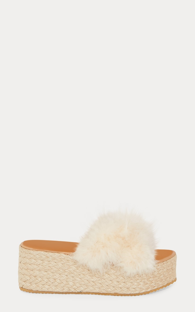 Nude Espadrille Feather Wedge 3
