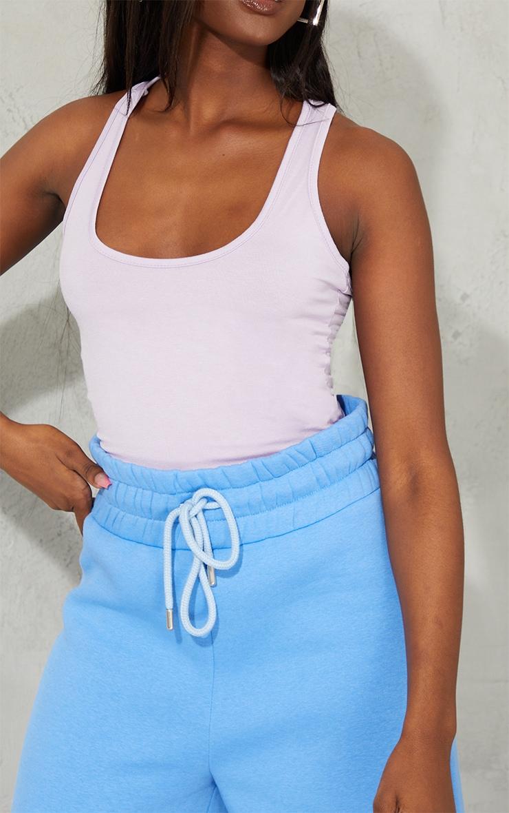 Lilac Basic Racer Back Bodysuit 4