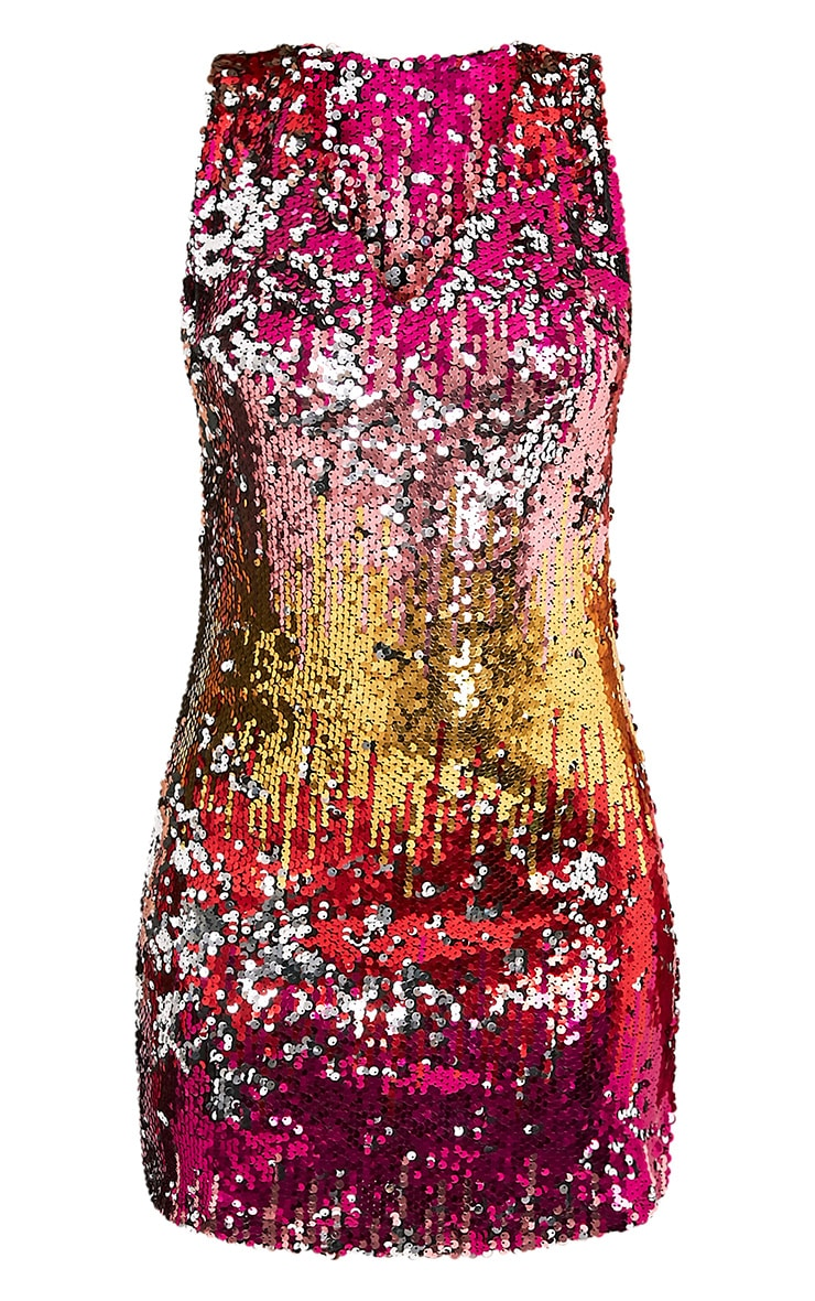 Jazmin Multi Sequin Shift Dress 3