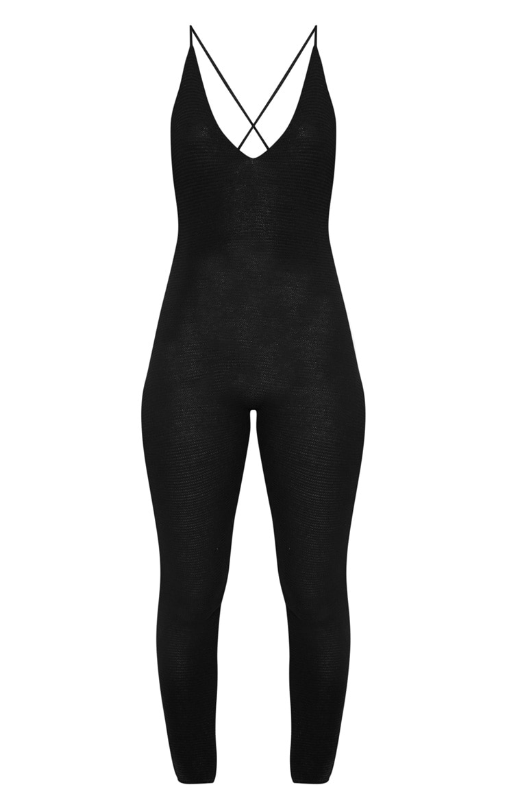 Black Knitted Jumpsuit 3