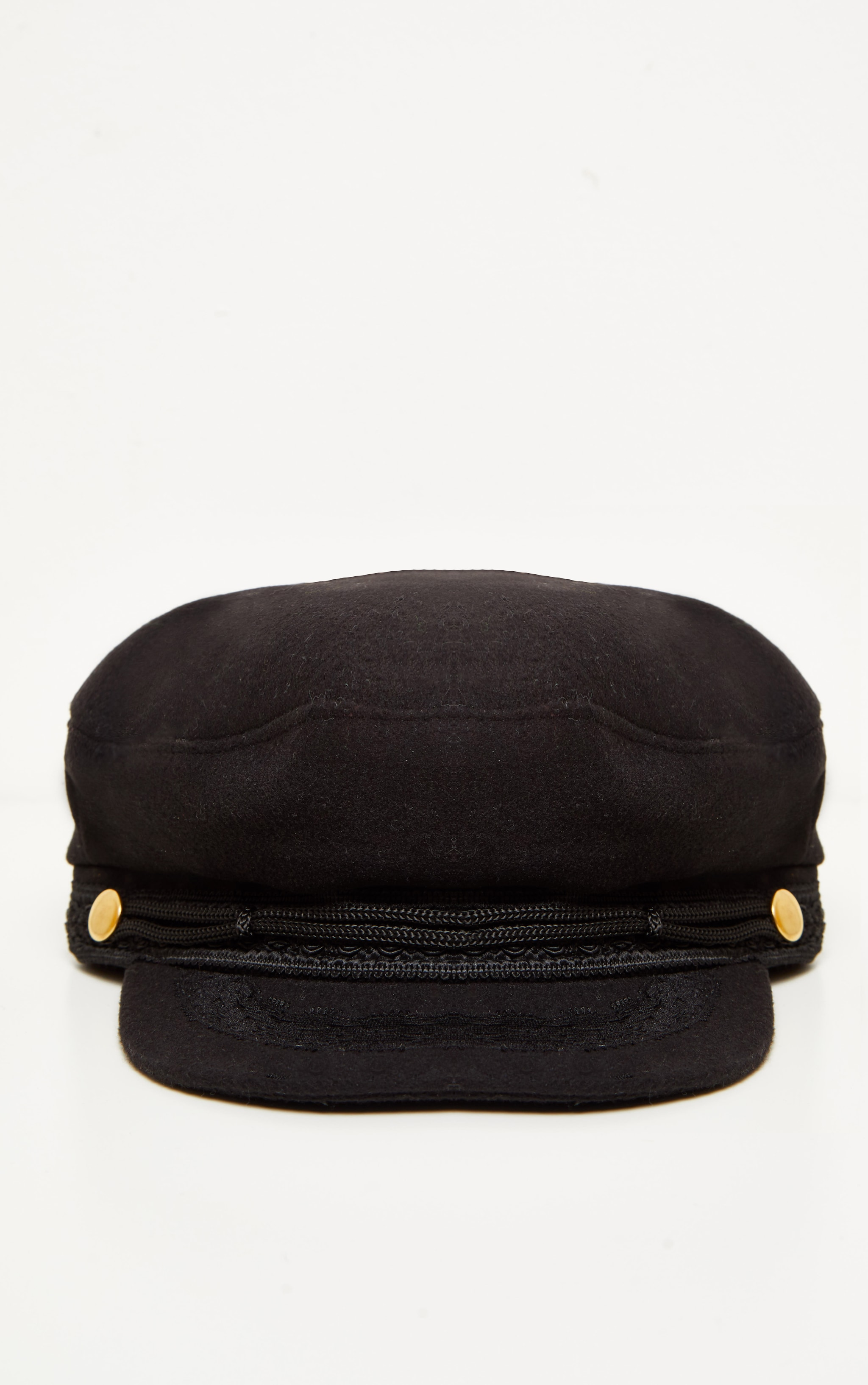 Black Flat Top Baker Boy Hat 2