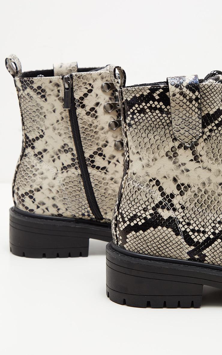 Snake Croc Hiker Boot  4