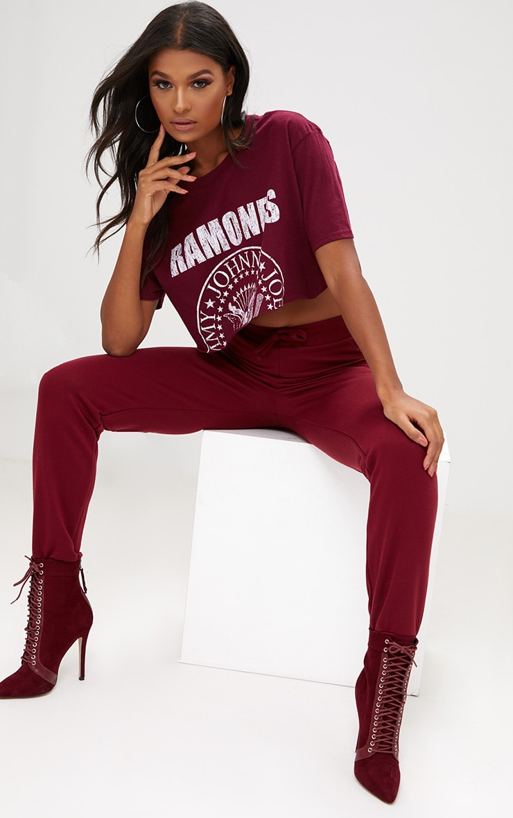 Burgundy Ultimate Sweat Joggers 1