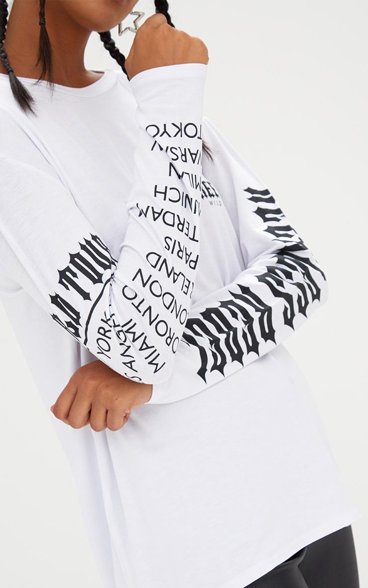 White Free Spirit Slogan Longsleeve T Shirt 5